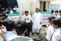 Healthy Life Style Session in GHS Main Qasimabad Hyderabad
