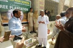 Plantation week  by CHI Component with Director school education Hyderabad at GGPS Latifabad Unit 10 Hyderabad
