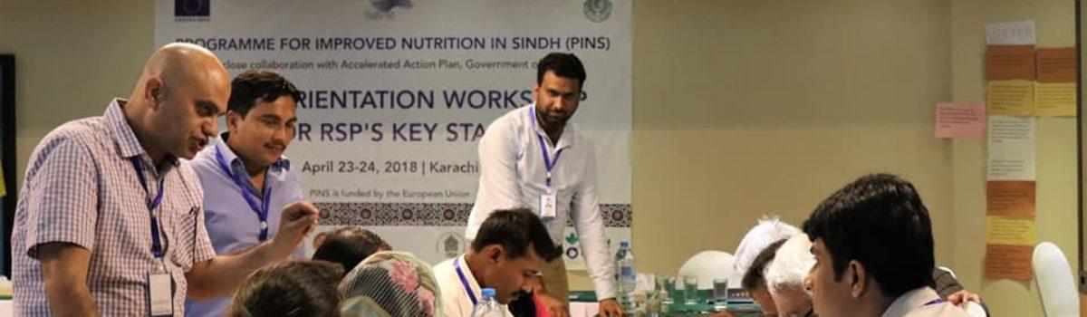 Orientation Workshop for RSP's key Staff